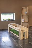 Biesvelden natuurkist, begrafenis, kist