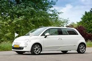 rouwvervoer, kind, baby, rouwauto, Fiat 500