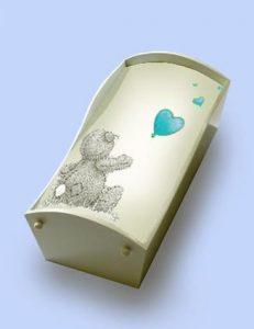kind, baby, uitvaart, beschilderde kist